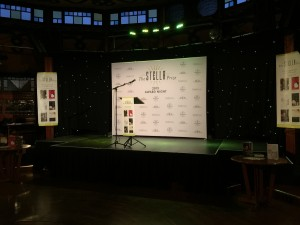 The stage at the Stella Prize just before proceedings began